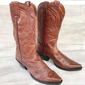 DAN POST Brown Leather Western Boots #3476-Size 7M